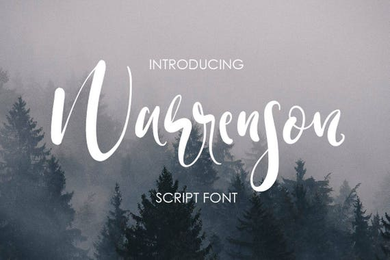 Calligraphy Font, Modern Calligraphy, Digital Fonts, Wedding Font, Invitation Font, Script Font, Digital Download, Warrenson
