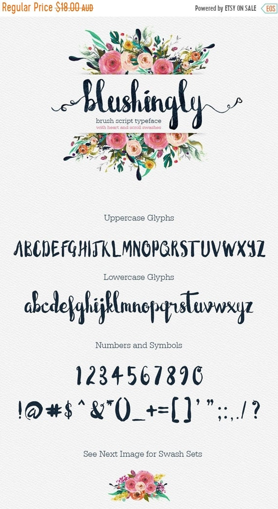 70% OFF Sale Calligraphy Font, Modern Calligraphy, Digital Fonts, Wedding Font, Invitation Font, Script Font, Digital Download, Blushingly