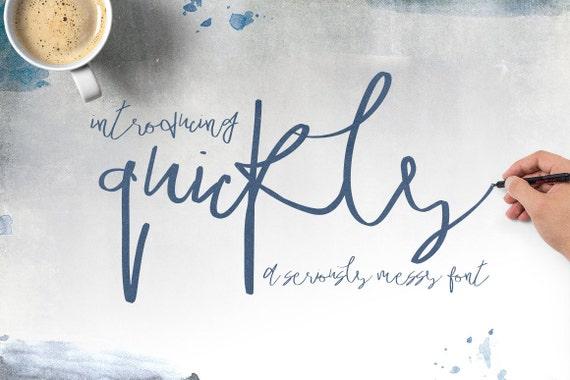 Calligraphy Font, Modern Calligraphy, Digital Fonts, Wedding Font, Invitation Font, Script Font, Digital Download, Quickly
