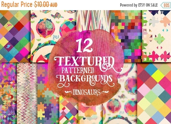 70% OFF Sale Dinosaur pattern digital paper, photography background papers, geometric, instant download