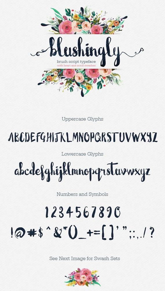 Calligraphy Font, Modern Calligraphy, Digital Fonts, Wedding Font, Invitation Font, Script Font, Digital Download, Blushingly