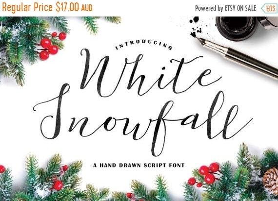 70% OFF Sale Calligraphy Font, Modern Calligraphy, Digital Fonts, Wedding Font, Invitation Font, Script Font, Digital Download, White Snowfa