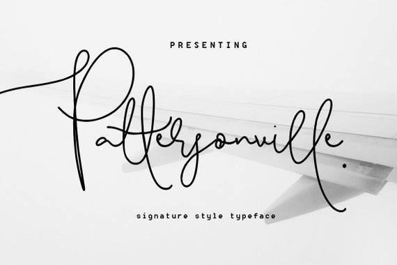 Calligraphy Font, Modern Calligraphy, Digital Fonts, Wedding Font, Invitation Font, Script Font, Digital Download, Pattersonville