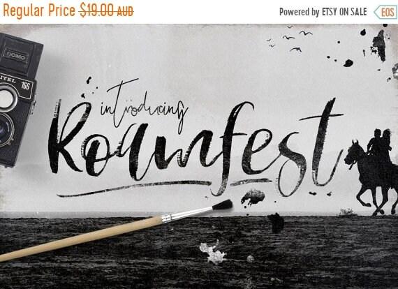 70% OFF Sale Calligraphy Font, Modern Calligraphy, Digital Fonts, Wedding Font, Invitation Font, Script Font, Digital Download, Roamfest
