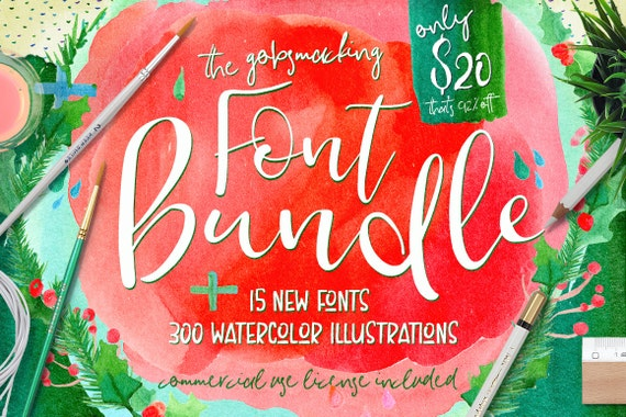 Digital fonts Bundle, 92 % OFF Sale, modern Calligraphy, Script, Wedding, Invites, Handpainted Watercolor Clipart, Digital Patterns, logo