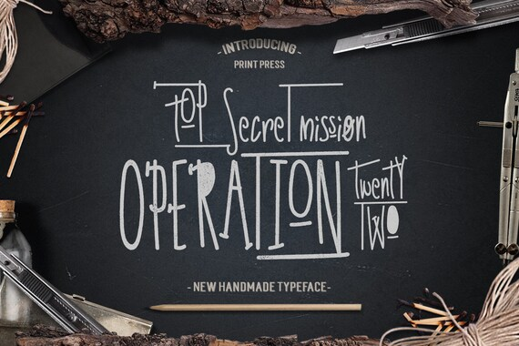 Digital Font, Hand written font, Hand drawn font, Display font, Invitation font, Operation 22