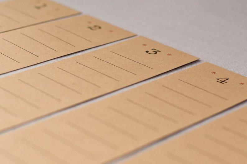 Tischplan aus Kraftpapier