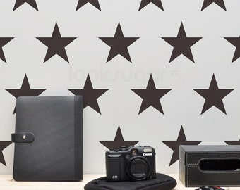 Star Wall Decals . Large Star Decals . Star Stickers . 4, 6, 8, 10, 12 inch Star Wall Stickers . AP0046NF