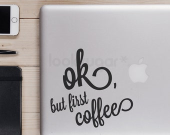 Laptop Decal - Coffee Laptop Sticker - Coffee decal - LSLD-A0002TF