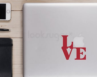 Laptop Decal - LOVE Laptop Sticker - LOVE decal - Sticker - LSLD-A0005TF