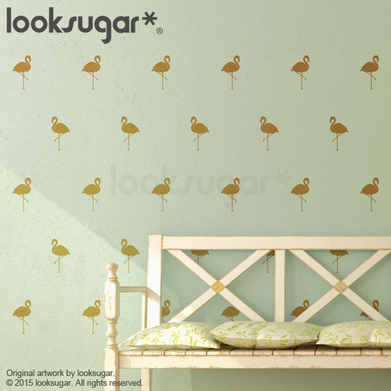 Baby Nursery Wall Decals AP0038TF Flamingo Pattern Decals Flamingo Decor Flamingo Decals