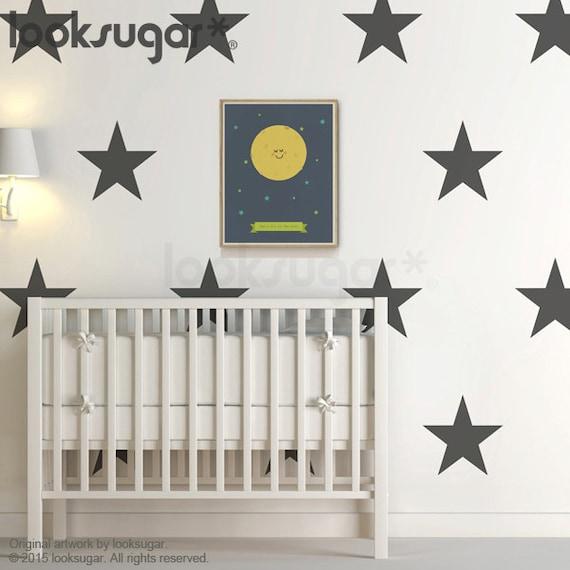 large star decals . star wall decals . nursery star decals . | etsy