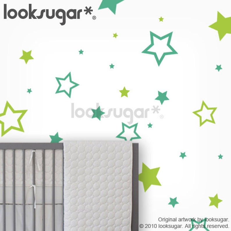 Baby Nursery Wall Decals  Star Stickers  Kids Wall Decal  image 0