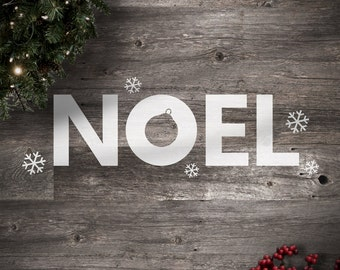 Noel Christmas Wall Decals - Holiday Edition - Noel Vinyl Lettering Decals - Christmas Stickers- Snowflakes - SL0002