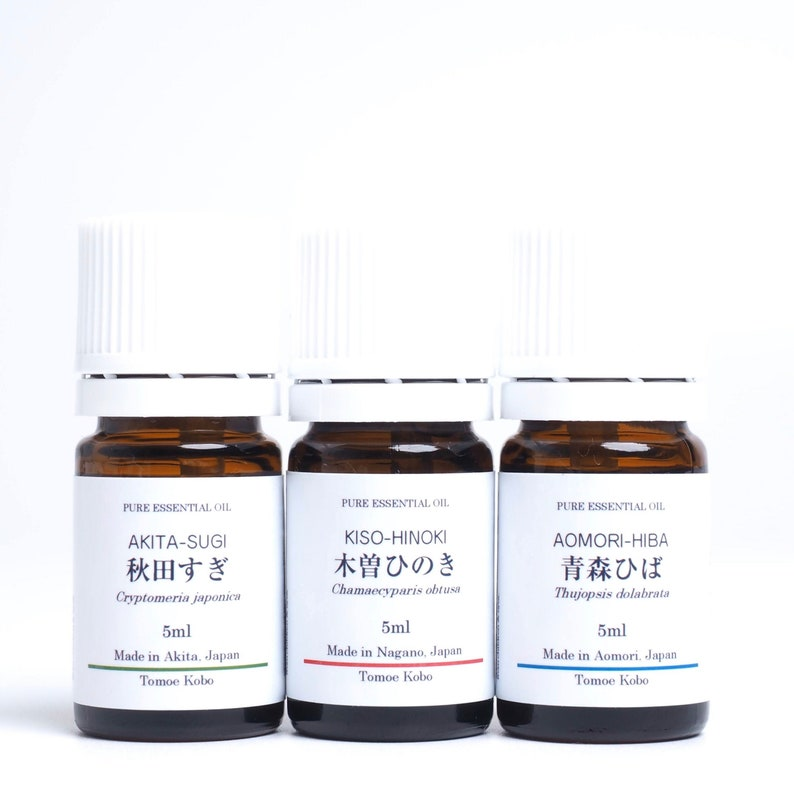 Japanese Wood essential oils of big three beautiful forests in image 0