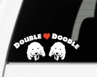 Double Doodle Inspired Vinyl Decal Sticker