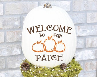 Welcome to our Patch Fall /Autumn Pumpkin  Vinyl Decal Sticker