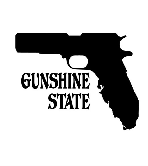 Florida Shaped Sticker Die Cut Decal FL