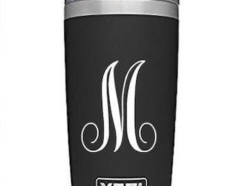 Monogram Initial Letter Vinyl Decal