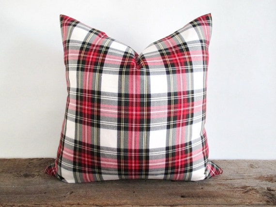One Tartan Plaid pillow cover, made