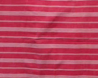 Large Piece of Vintage French Ticking /Red & White