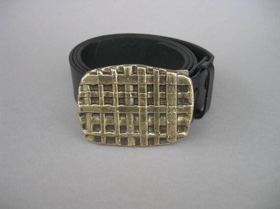 Le tissage en fer forgé boucle de ceinture Bronze   Etsy c3653bce55f