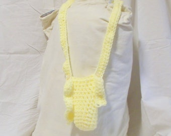 Crochet Water Bottle Holder with an Adjustable Strap