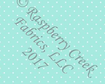 Mint and White Pin Polka Dot 4 Way Stretch Jersey Knit Fabric, Club Fabrics