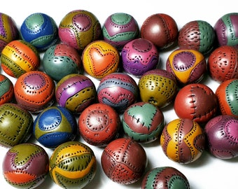 Polymer Clay Tutorial eBook, Learn How To Make Hollow Multi Colored Round Polymer Clay Beads With Patterns, Using Nothing But Polymer Clay.