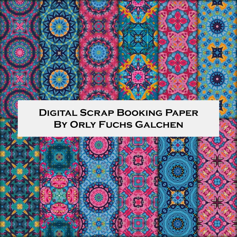 image regarding Free Printable Decorative Paper named 12 Electronic Downloadable Attractive Paper Pack Electronic Paper inside Red, Turquoise, Eco-friendly Blue and Yellow. Sbook Ideas For Paper Crafts