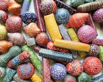 Hollow Beads Polymer Clay Tutorial Learn How To Make Beads in Various Shapes Round, Lentil, Bi-cone, Tube Beads (Round, Square, Triangular).