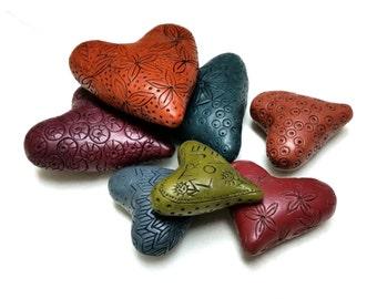 Polymer Clay Tutorial, Learn How To Make Hollow Heart Beads, Arcilla Polimérica, учебник по полимерной глине, tutoriel d'argile de polymère