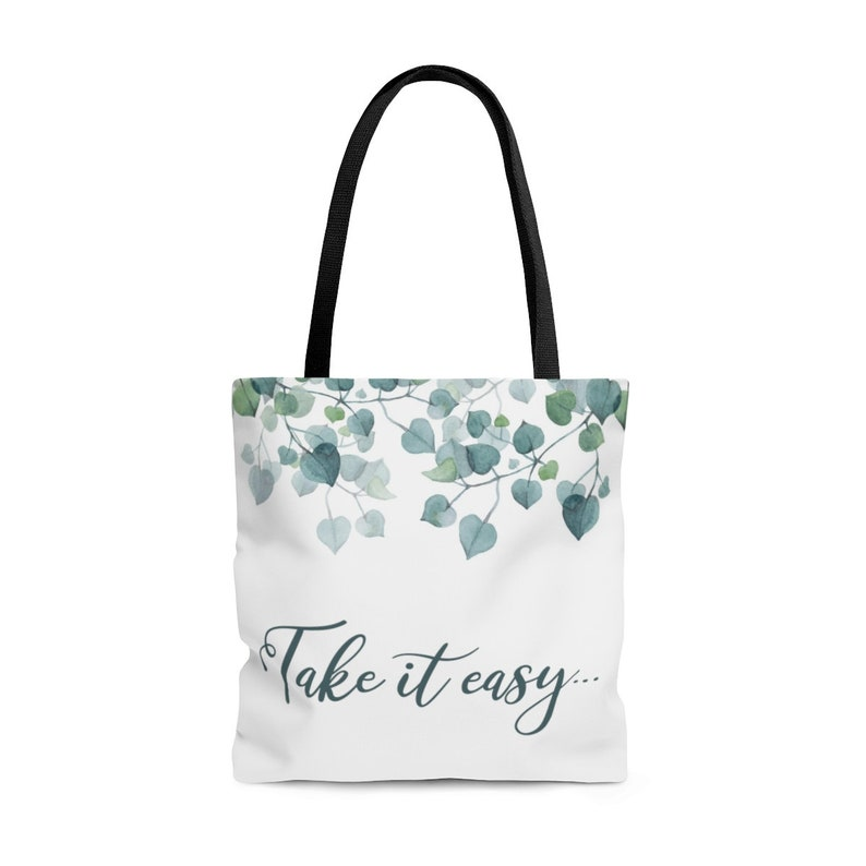 743268a82dce Take it easy Multi Purpose Tote Bag, Stylish Carry All Tote Bag, Reusable  Grocery Bag, Stylish Shopping Bag, Custom Tote Bag