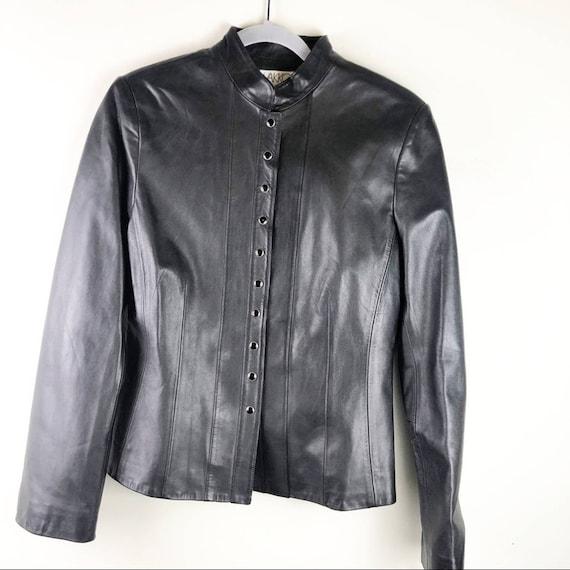 Vintage Vakko Sport 100% Leather Shirt Jacket NWT