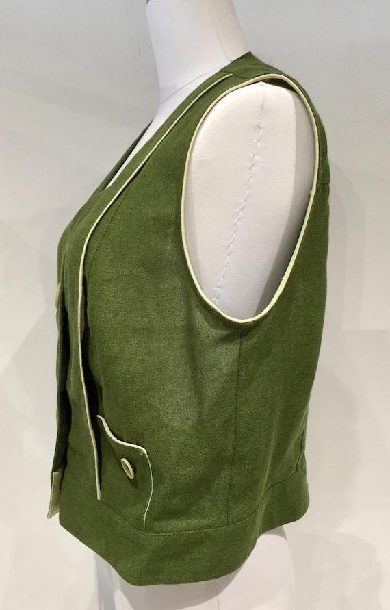c5747434f79a Darling Vintage DOROTHY SCHOELEN Olive Green Vest
