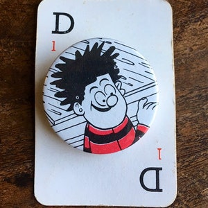 Billy Wizz pin button badge Vintage Beano annual