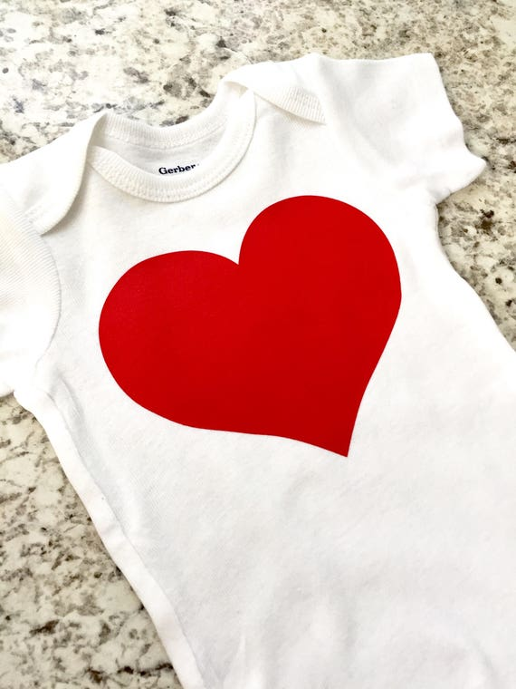 583eaeba7941 Red Heart Onesie Birthday February baby Sweetheart Onesie ...