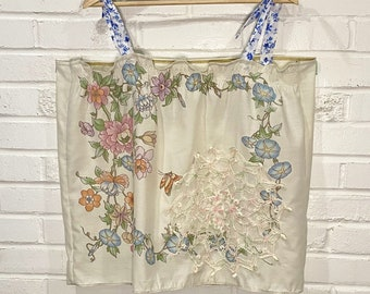 Upcycled Top - Vintage Pillowcase - Summer Top - Plus Size -Zero Waste - All Genders