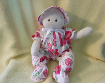 A Faithful Friend Handmade Baby Doll Washable Baby Safe First Doll Baby Shower Doll