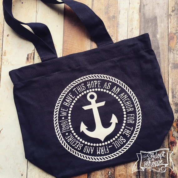 3c1e1437ee hope is my anchor Hebrews 6 19 tote bag