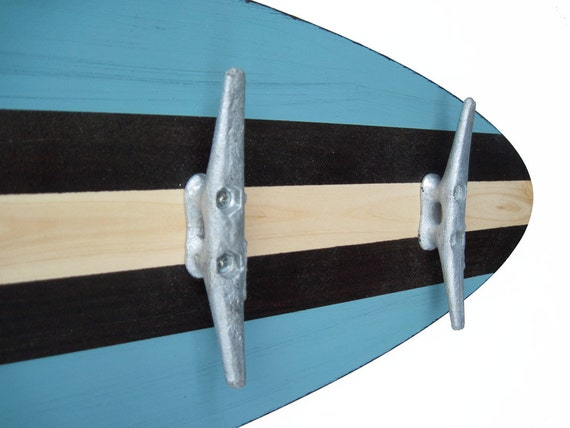 40 Ft Turquoise Surfboard Coat Rack With 40 Boat Cleats Etsy Best Surfboard Coat Rack