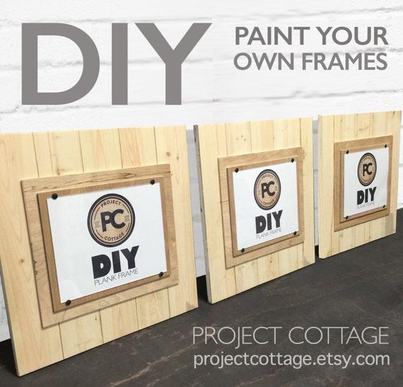 Set Of 3 Diy Plank Frames Large 17x17 For 8x10 Etsy