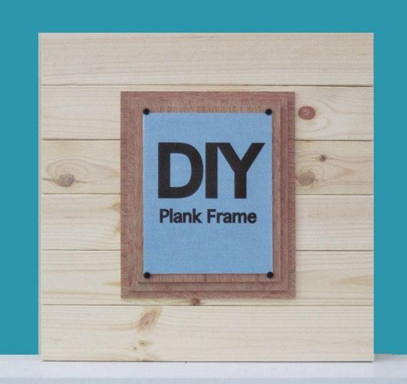 Diy Plank Frame X Tra Large 21x21 Cottage Frame For 8x10 Etsy
