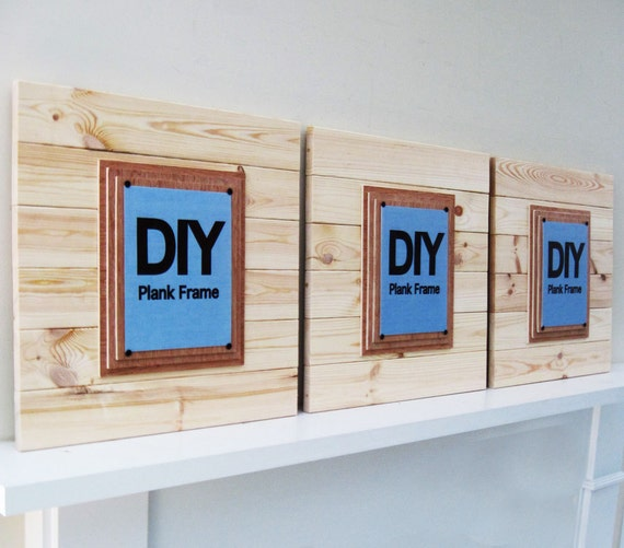 Diy Plank Frames Set Of 3 X Tra Large 21x21 For 8x10 Etsy