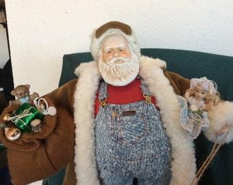 Vintage up cycled Santa Claus porcelain doll