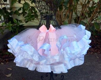 Ribbon edge tutu, custom tutu, birthday tutu, handmade tutu, girls tutu, toddler tutu, ribbon tutu, flower girl tutu, cake smash, photo prop