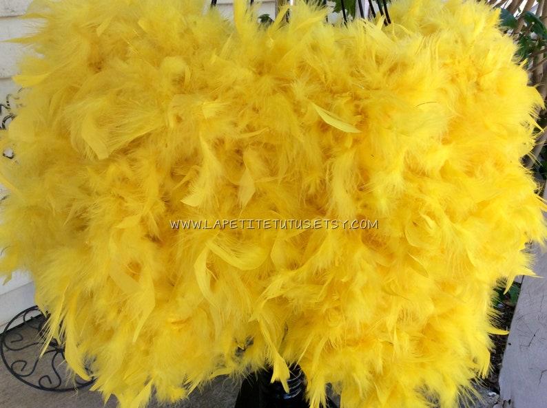 Yellow adult feather tutu maternity tutu mommy to be maternity skirt feather skirt photo prop feather skirt hand sewn