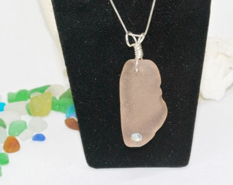 Sea Glass Jewelry, Seaglass Necklace, Crystal Necklace, Sea Glass Jewelry, Lake Erie Beach Glass, Sea Glass, Gift For Mom