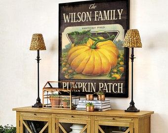 Fall Pumpkin Patch Art-Personalized