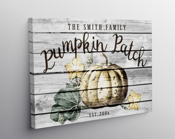 Pumpkin Garden Personalized Art Print